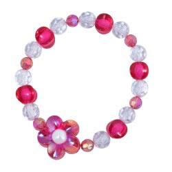 Pink Poppy Βραχιόλι Λουλούδι Ογκώδες 0076613 BC-114 9321268067514