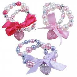 Pink Poppy Βραχιόλι Διπλό Καρδιά Φιόγκος 0077463 BCF-385 9321268070934