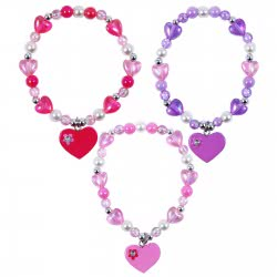 Pink Poppy Βραχιόλι Καρδιάς Με Διαμαντένια Λουλούδια 0804549 BCF-398 9321268085631