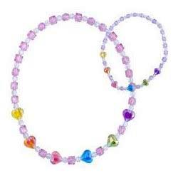 Pink Poppy Κολιέ Βραχιόλι Σετ Χρωματιστές Καρδιές 0077513 NC-116 9321268067307