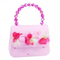 Pink Poppy Τσαντάκι Χειρός Ροζ Κυματιστά Λουλούδια 0098375 JHK-222A1 9321268088984