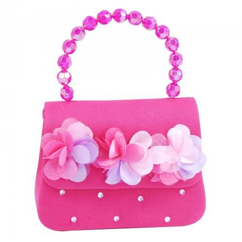 Pink Poppy Τσαντάκι Χειρός Φούξια Κυματιστά Λουλούδια 0098374 JHK-222A 9321268088977