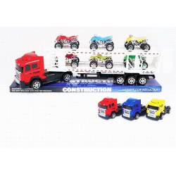Toys-shop D.I LE QI DUO TOYS Friction Νταλίκα με καρότσα μεταφοράς οχημάτων JA056523 5262088565238