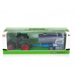 Toys-shop D.I Friction Farmer Car Τρακτέρ Με Ρυμουλκόμενο Βυτίο JA056585 5262088565856