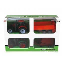 Toys-shop D.I Friction Αυτοκούρδιστο Τριβής Τρακτέρ 2τεμ με καρότσες JA056589 5262088565894