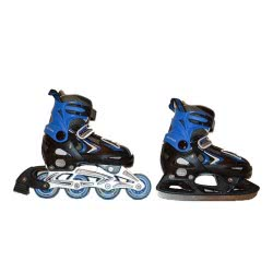 ΑΘΛΟΠΑΙΔΙΑ Roller - Παγοπέδιλα 2 Εφαρμογής 37 - 40 Αυξομειούμενα Μπλε 002.1085/Α/37 9985775017914