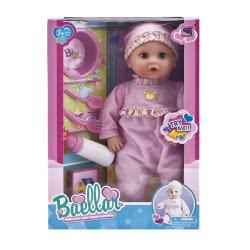 Toys-shop D.I ΚΟΥΚΛΑ 38εκ. ΜΕ ΣΕΤ ΦΑΓΗΤΟΥ 15 ίντσες Baby doll set JO049364 5262088493647