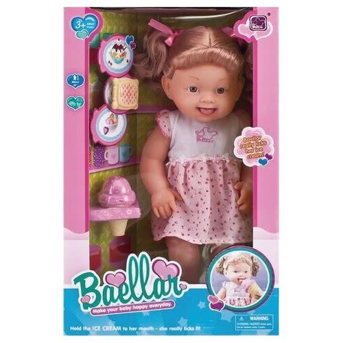7989bfc5db5 Toys-shop D.I Baellar Κούκλα Μωρό 38εκ. με διάφορα αξεσουάρ και παγωτό  JO049365 5262088493654