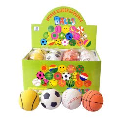Toys-shop D.I ΜΠΑΛΑ ΜΑΛΑΚΗ 6.3CM Rubber ball JS043720 5262088437207