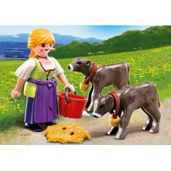 Playmobil Αγρότισσα Με Μοσχαράκια 4778 4008789047786