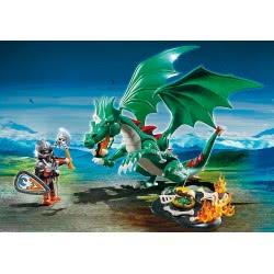 Playmobil Ιππότης και πράσινος Δράκος 6003 4008789060037