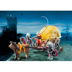 Playmobil Ιππότες του Γερακιού με κάρο-κρυψώνα 6005 4008789060051