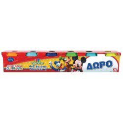 As company Mickey Mouse Clubhouse Dough 4 + 2 Βαζάκια Πλαστελίνης 4Oz Mickey 1045-03531 5203068035310