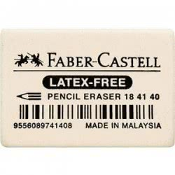 Faber-Castell Fc Γόμα Natural Rubber Λευκή 7041-40 Μικρή 184140 9556089741408