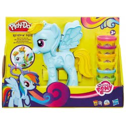 Hasbro Play-Doh Rainbow Dash Σαλόνι Ομορφιάς Style Salon B0011 5010994841393