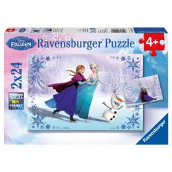 Ravensburger Παζλ 2x24τεμ. Disney Frozen Ψυχρά & Ανάποδα 09115 4005556091157