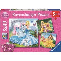 Ravensburger Παζλ 3x49τεμ. Disney Princess Βασιλικά Ζωάκια 09346 4005556093465