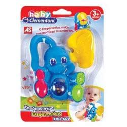 Clementoni baby Baby Clementoni Βρεφικό Παιχνίδι Κουδουνίστρα Ελεφαντούλης Κου-Κου 1000-63824 8005125638246