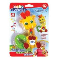 Clementoni baby Baby Clementoni Βρεφικό Παιχνίδι Κουδουνίστρα Καμηλοπάρδαλη Up Και Down 1000-63825 8005125638253