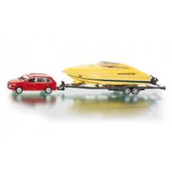siku Αυτοκίνητο με σκάφος 1:55/20/HK SI002543 4006874025435