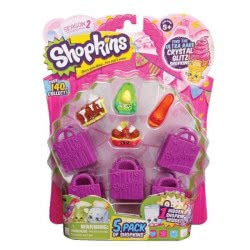 GIOCHI PREZIOSI Shopkins Σειρά 2 - 5 Shopkins & 5 καλαθάκια αγορών GPH56130 8001444138832