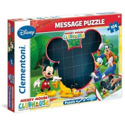 Clementoni Παζλ 104τεμ Mickey Mouse Messge Puzzle 1211-20232 8005125202324