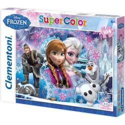 Clementoni Παζλ 104τεμ. Super Color Disney Frozen 1210-27913 8005125279135