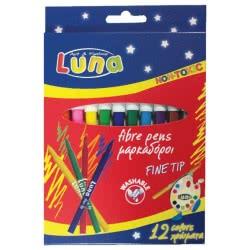 LUNA OFFICE Μαρκαδόροι Λεπτοί Luna 0620181 5205698108730