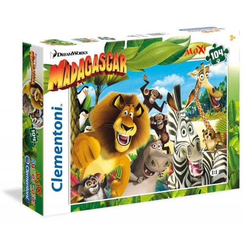 Clementoni Παζλ Maxi Super Color 104τεμ Μαδαγασκάρη 1210-23694 8005125236947