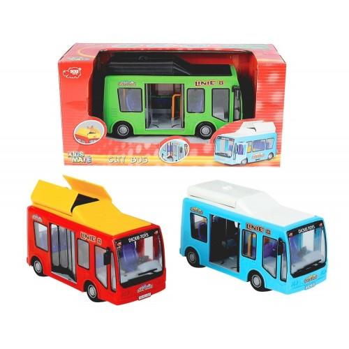 DICKIE TOYS DICKIE City Bus σε 3 χρώματα 20 331 4321 4006333016028
