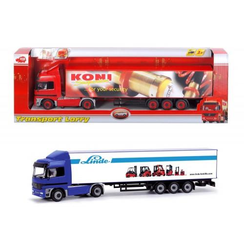 DICKIE TOYS DICKIE Νταλίκα Επικαθούμενη Transport Lorry Σε 2 Χρώματα 20 341 4582 4006333032738