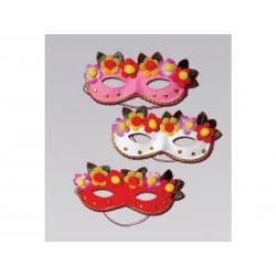 fun world Μάσκα Με Λουλούδια 3 Χρώματα 314 5212007502882