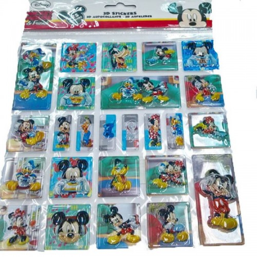 Group Operation ΑΥΤΟΚΟΛΛΗΤΑ 3D POP UP STICKERS 24τμχ MICKEY MOUSE F26194 8719033261945