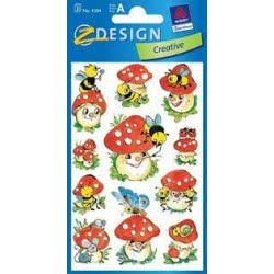 ZDesign Αυτοκολλητα Ζ Design Creative Μανιτάρια 4304 4004182043042
