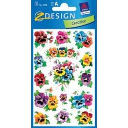ZDesign Αυτοκολλητα Ζ Design Creative Λουλούδισ σκυλάκια 4398 4004182043981