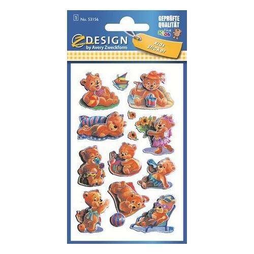 ZDesign Ζ Design Αυτοκολλητα Kids 3D Αρκουδάκια 53156 4004182531563