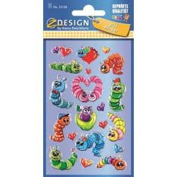 ZDesign Ζ Design Αυτοκολλητα Kids 3D Σαρανταποδαρούσες 53158 4004182531587
