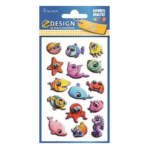 ZDesign Ζ Design Αυτοκολλητα Kids 3D Θαλάσσια ζωάκια 53159 4004182531594