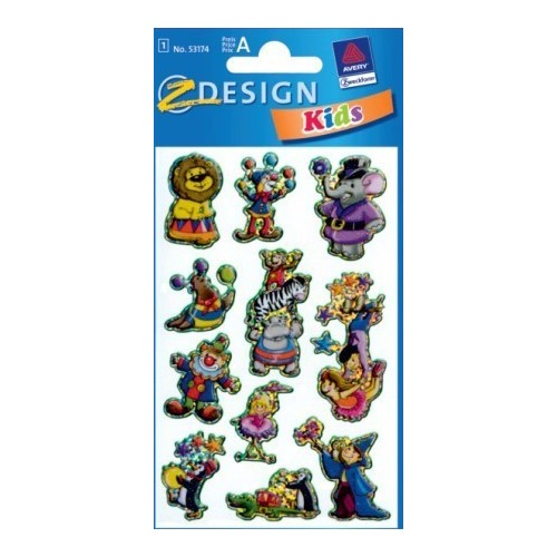 ZDesign Ζ Design Αυτοκολλητα Kids Χαρακτήρες Τσίρκου 53174 4004182531747