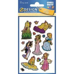 ZDesign Ζ Design Αυτοκολλητα Kids Πριγκίπισσες 53178 4004182531785