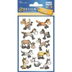 ZDesign Αυτοκόλλητα Ζ Design Kids Γαϊδουράκια 53192 4004182531921