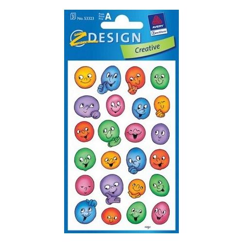 ZDesign Ζ Design Αυτοκολλητα Creative Φατσούλες 53323 4004182533239
