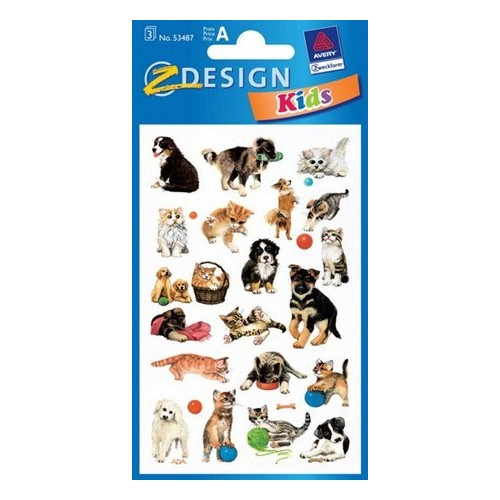 ZDesign Ζ Design Αυτοκολλητα Kids Σκυλάκια και Γατάκια 53487 4004182534878