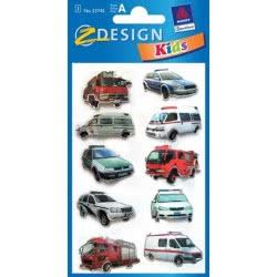 ZDesign Ζ Design Αυτοκολλητα Kids 3D Οχήματα Διάσωσης 53745 4004182537459