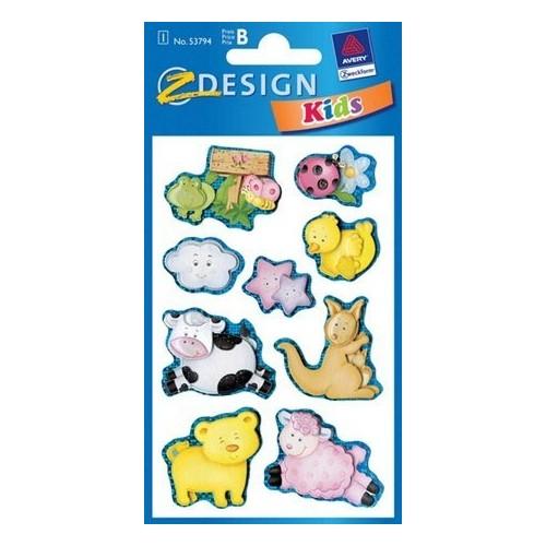 ZDesign Αυτοκόλλητα Ζ Design Κids Collage Ζωάκια 53794 4004182537947