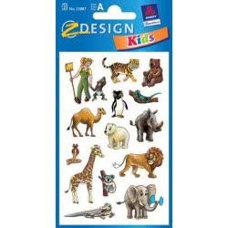 ZDesign Ζ Design Αυτοκολλητα Kids Άγρια Ζώα 53887 4004182538876