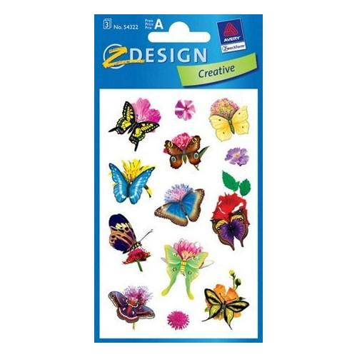 ZDesign Αυτοκόλλητα Ζ Design Creative Πεταλούδες 54322 4004182543221