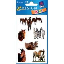 ZDesign Ζ Design Αυτοκολλητα Kids Άλογα Και Ζέβρες 55973 4004182559734