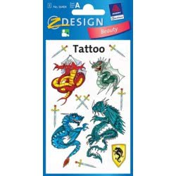 ZDesign Αυτοκόλλητα Ζ Design Kids Tattoo Δράκοι 56404 4004182564042