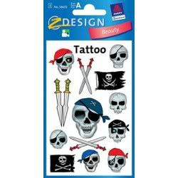 ZDesign Ζ Design Kids Τattoo Πειρατικές Νεκροκεφαλές 56632 4004182566329